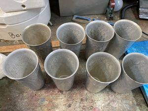 Vintage 8 pewter aluminum cups for Sale in Atlanta, GA