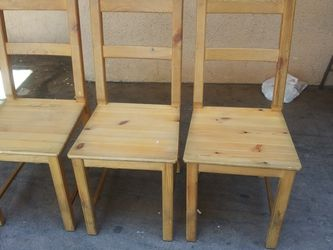 3 Wood Chairs. Check all my offers please. for Sale in Los Angeles,  CA