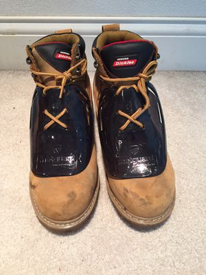 Dickies steel toe work boots. Men's Size 9 for Sale in Peoria, IL