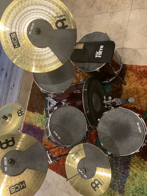 5-piece Used Tama Drum-set with Hi-Hat, Ride, Crash and China cymbals. Sound suppressors included(except for the china) as well as drumsticks for Sale in Miramar, FL