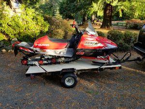 2001 Polaris RMK 800 Rocky Mountain King snowmobile with trailer for Sale in Auburn, WA