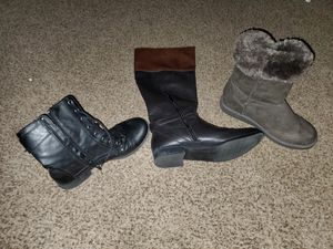 Lot of 3 pair Size 7.5 & 8 ladies boots for Sale in Sunbury, PA