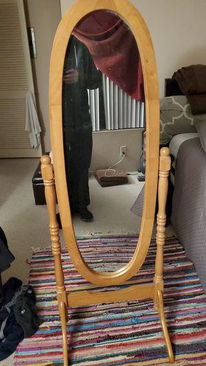 Oak Cheval Mirror for Sale in Irvine, CA