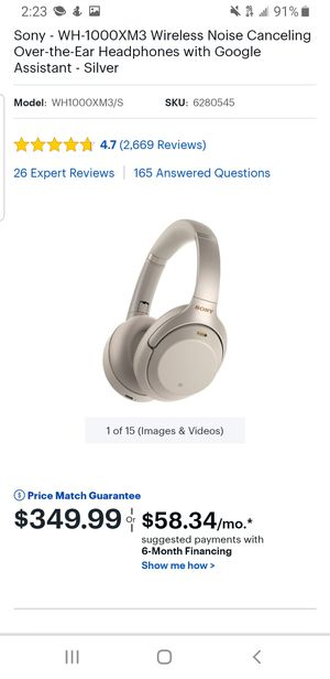 2019 Sony MX-3000 Headphones for Sale in Mesquite, TX