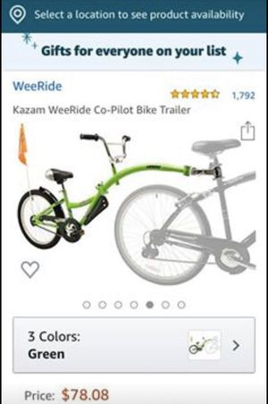 Kazam WeeRide Co- pilot child bike seat trailer for Sale in Stockton, CA