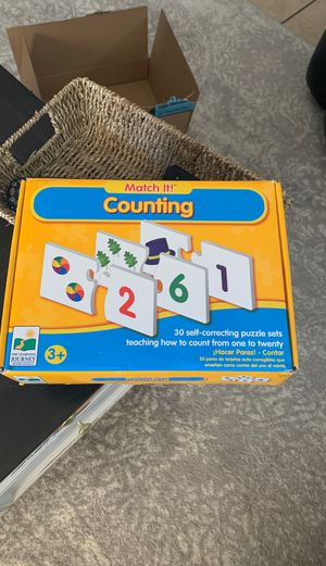 Kids children's counting matching cards game for Sale in Glendale, AZ