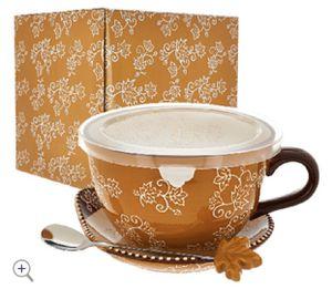 Temp-tations 24-oz Floral Lace Soup Mug w/ Lid-it for Sale in Pompano Beach, FL
