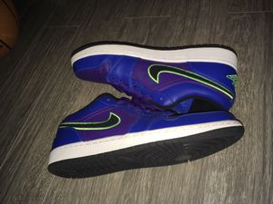 Air Jordan 1 Low Game Royal Flash Lime-Court Purple for Sale in Mountlake 245d713e0