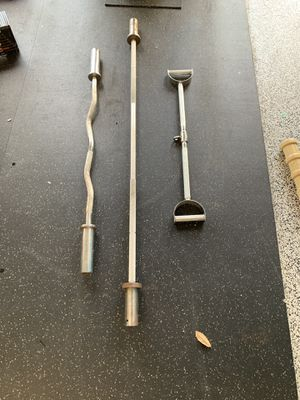 Various weightlifting bars for sale. Some light weight Rogue barbells too for Sale in FL, US
