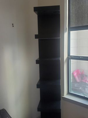 Tall black etarge bookcase for Sale in Houston, TX