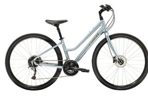 Trek his and hers bicycles with rack for bikes. Like new. Man bike is grey and black. Ladies is ue and grey. Manual available. for Sale in Pine Ridge, FL