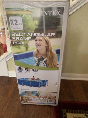 Intex 7.2FT Rectangular Frame Pool for Sale in Katy, TX