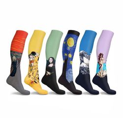 New Comparession Socks With Fabulous Famous Painting Pattern 6 Pairs for Sale in Sacramento,  CA