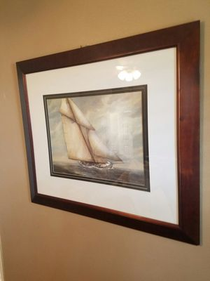 """36.5 """" x 42.5 """" Sailboat on the Waves for Sale in Yorba Linda, CA"""