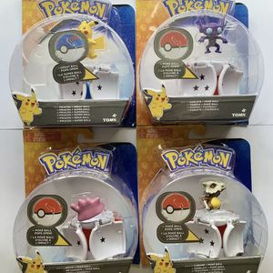(4) POKEMON Throw N' Pop Poke Ball - Pikachu, Ditto, Sableye, Cubone - by TOMY for Sale in Windermere, FL