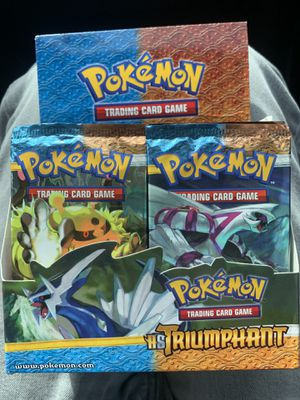 Pokemon cards HS triumphant booster box 34 packs for Sale in Zephyrhills, FL