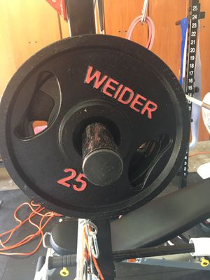 Olympic weights 2 25s for Sale in Phoenix, AZ