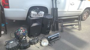 DJ equipment horns and lights all works great for Sale in Modesto, CA