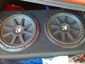 Kicker 10 competition speakers and box for Sale in Boiling Springs, SC
