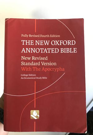 The New Oxford Annotated Bible for Sale in Colton, CA