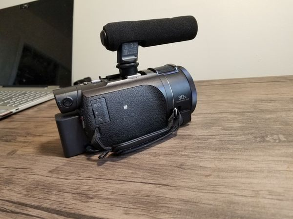 SONY 4k Video Camera with microphone | Sony AX53