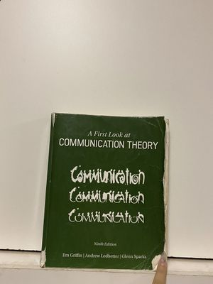 A First Look at Communication Theory (Conversations with Communication Theorists) 9th Edition for Sale in Corona, CA