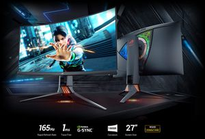 """ASUS ROG Swift PG27VQ 27"""" 1440p 1ms 165Hz DP HDMI G-SYNC Aura Sync Curved Gaming Monitor for Sale in IND HEAD PARK, IL"""