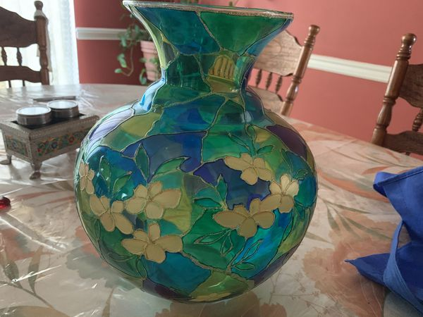 Price Reduced - One Beautiful Glass Flower Pot