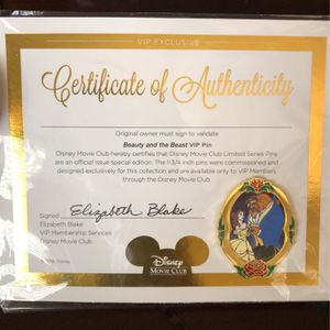 Beauty And The Beast Movie Club Pin for Sale in Fresno, CA