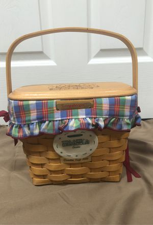 1999 Dresden Tour Longaberger basket signed by 3 family members for Sale in Providence, KY