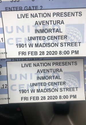 Aventura concert tickets for Sale in Chicago, IL