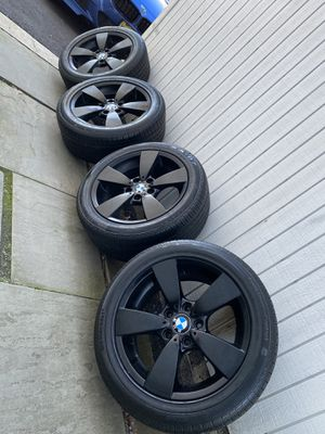 Bmw Black Rims With Tires 17 Inch Oem Wheels for Sale in Teaneck, NJ
