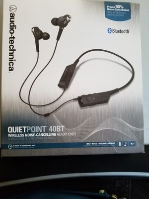Audio Technica Noise Cancelling Bluetooth Earbuds Wireless for Sale in Houston, TX