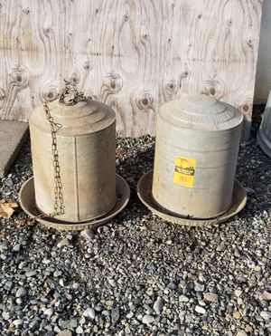 Chicken scratch feeders for Sale in Milton, WA