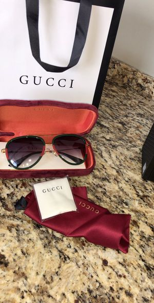 Gucci Aviator Metal Sunglasses Green/red for Sale in Houston, TX