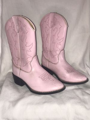 Girls Pink Cowgirl Boots Size 2 for Sale in Temecula, CA