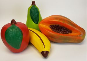 Awesome Set of Four (4) LARGE Ceramic Fruit/Kitchen Decor for Sale in Mesa, AZ