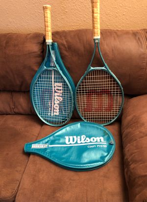 Wilson court pro 110 tennis rackets for Sale in Tacoma, WA
