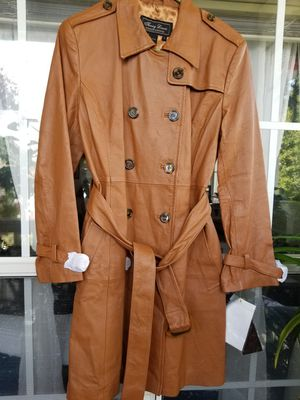 Terry Lewis Leather Coat, New with Tags sz S-M for Sale in Atlanta, GA