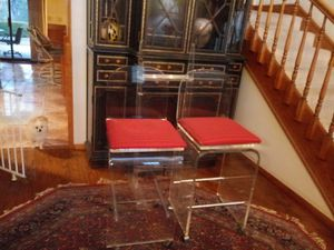 Pair of lucite bar stools for Sale in Riverside, CA