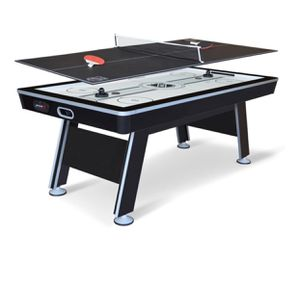 NHL 80- inch air powered hover hockey table with bonus table tennis top for Sale in Austin, TX