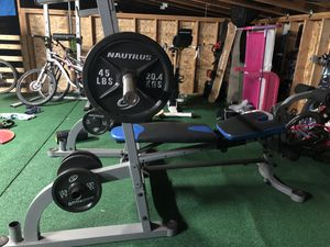 Nautilus Weight Set / Squat Rack for Sale in Washougal, WA