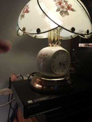 Antique touch light up with clock for Sale in Allentown, PA