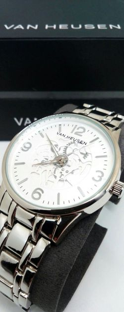 Van Heusen Men's Stainless Steel Skeleton Analog Watch Brand New in Box for Sale in Boca Raton,  FL