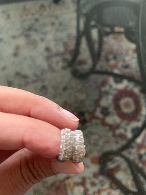 Diamond hoop earrings for Sale in Palos Hills, IL