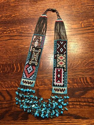 Native American turquoise hand beaded necklace for Sale in Wayland, MA