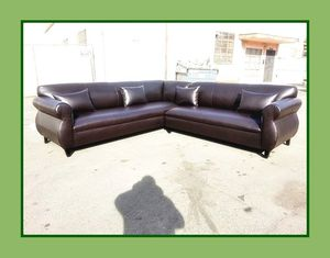 """new 9x9 ft """"Brown leather"""" sectional couches for Sale in Los Angeles, CA"""