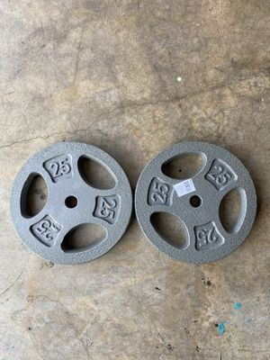 25 lb weight plate Pair for Sale in Diamond Bar, CA