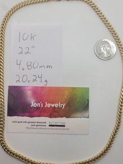 """10k Gold 22"""" Franco Link Necklace for Sale in Beverly,  NJ"""