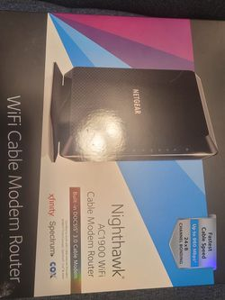 NETGEAR C7000 Nighthawk AC1900 Wi-Fi Cable Modem Router 2.4GHz / 5GHz 1900Mbps for Sale in Allentown,  PA
